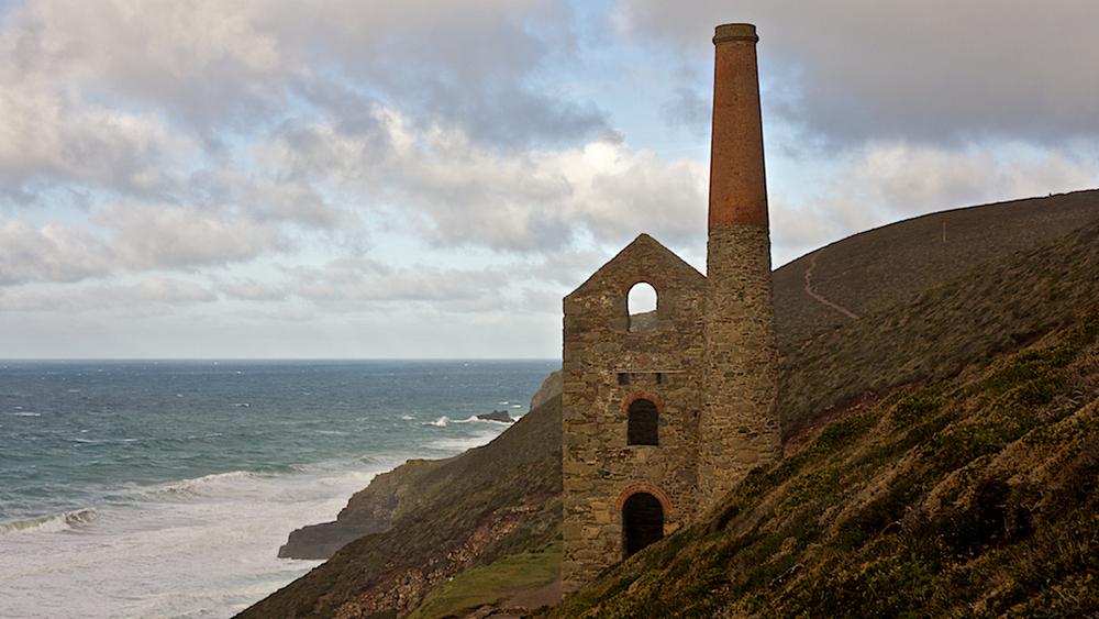 Tin Mine at St. Agnes Head Cornwall