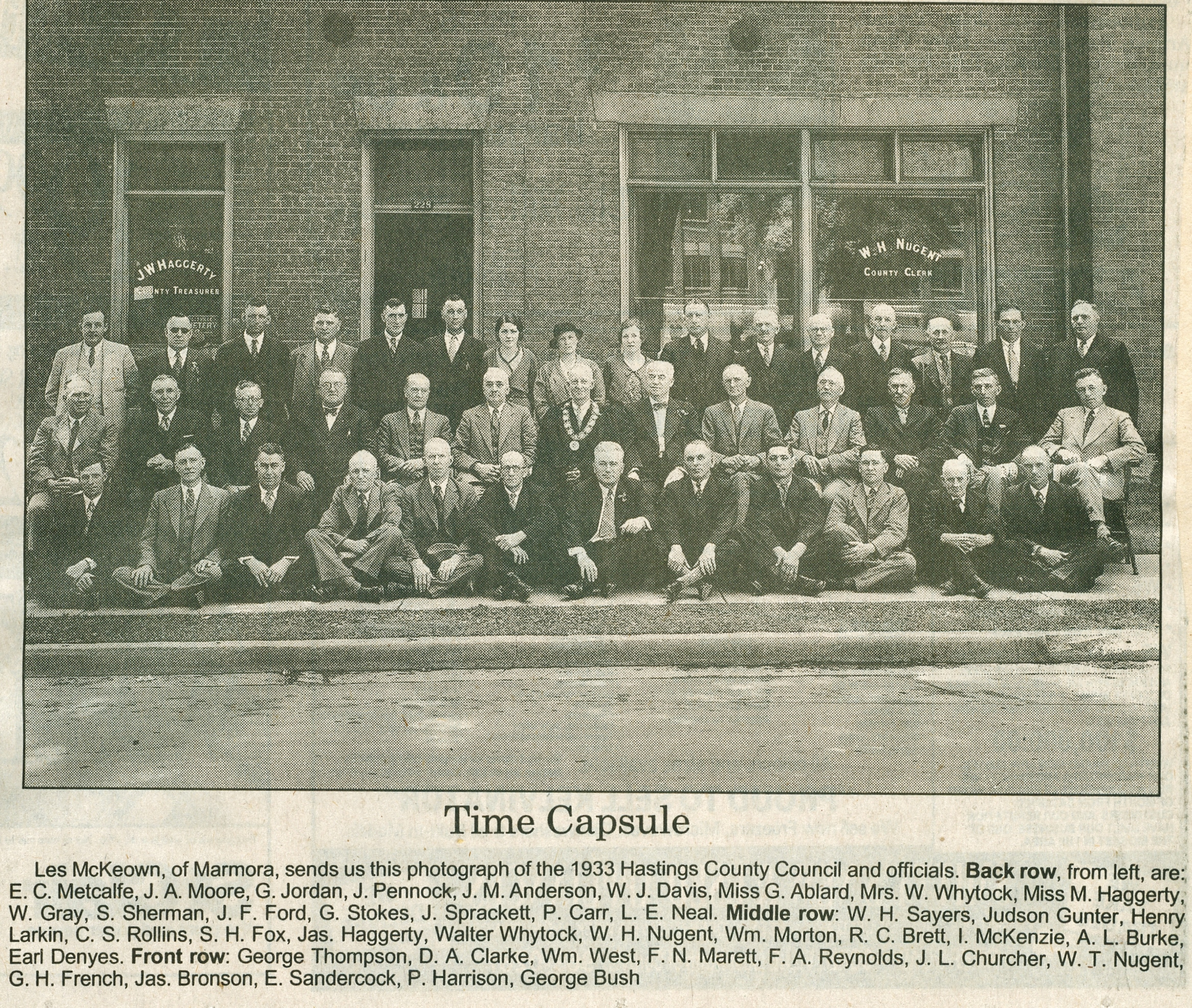 1933 Hastings County Council