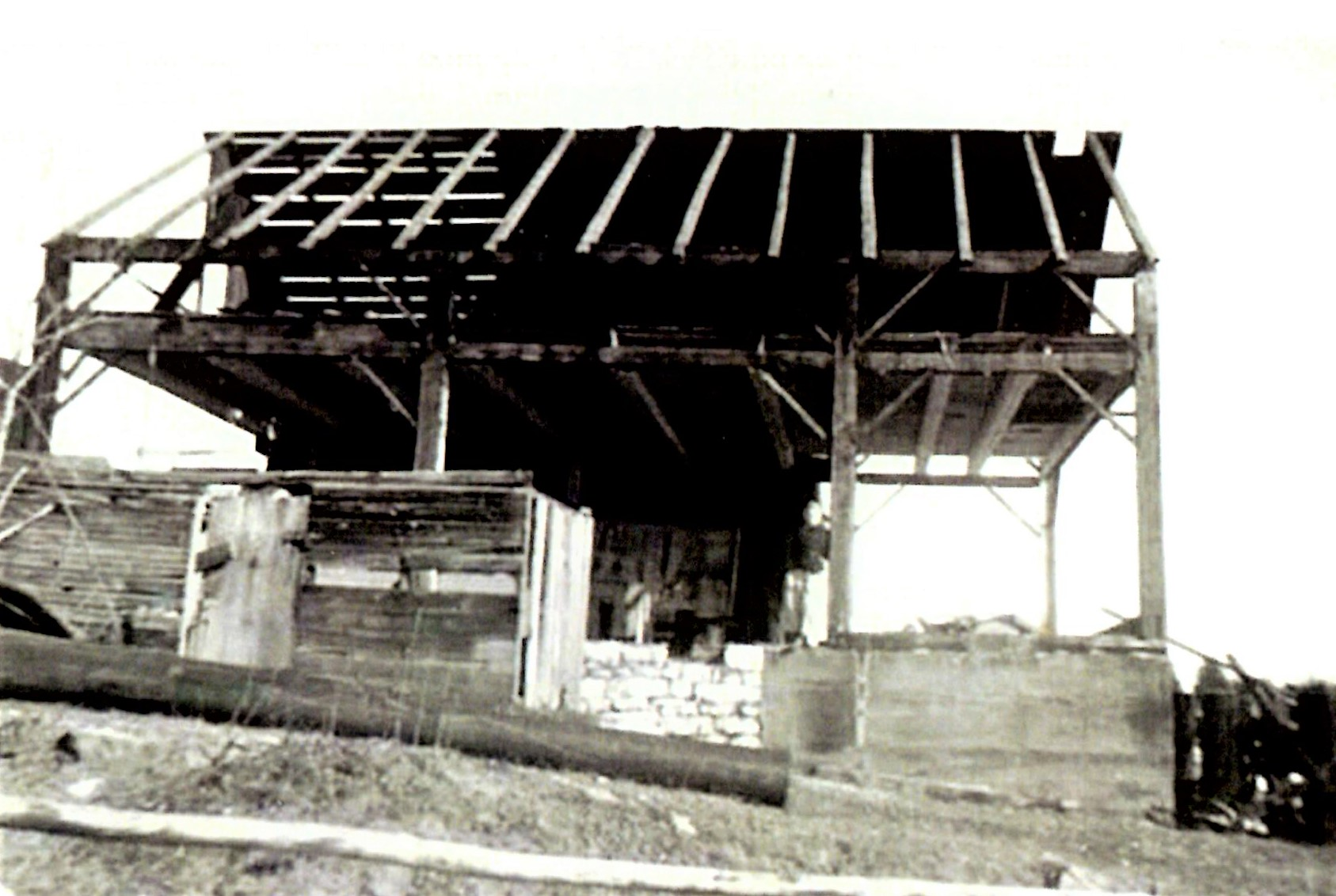 Cook cheese factory demolition c.1945 located at #144 Clemenger Rd