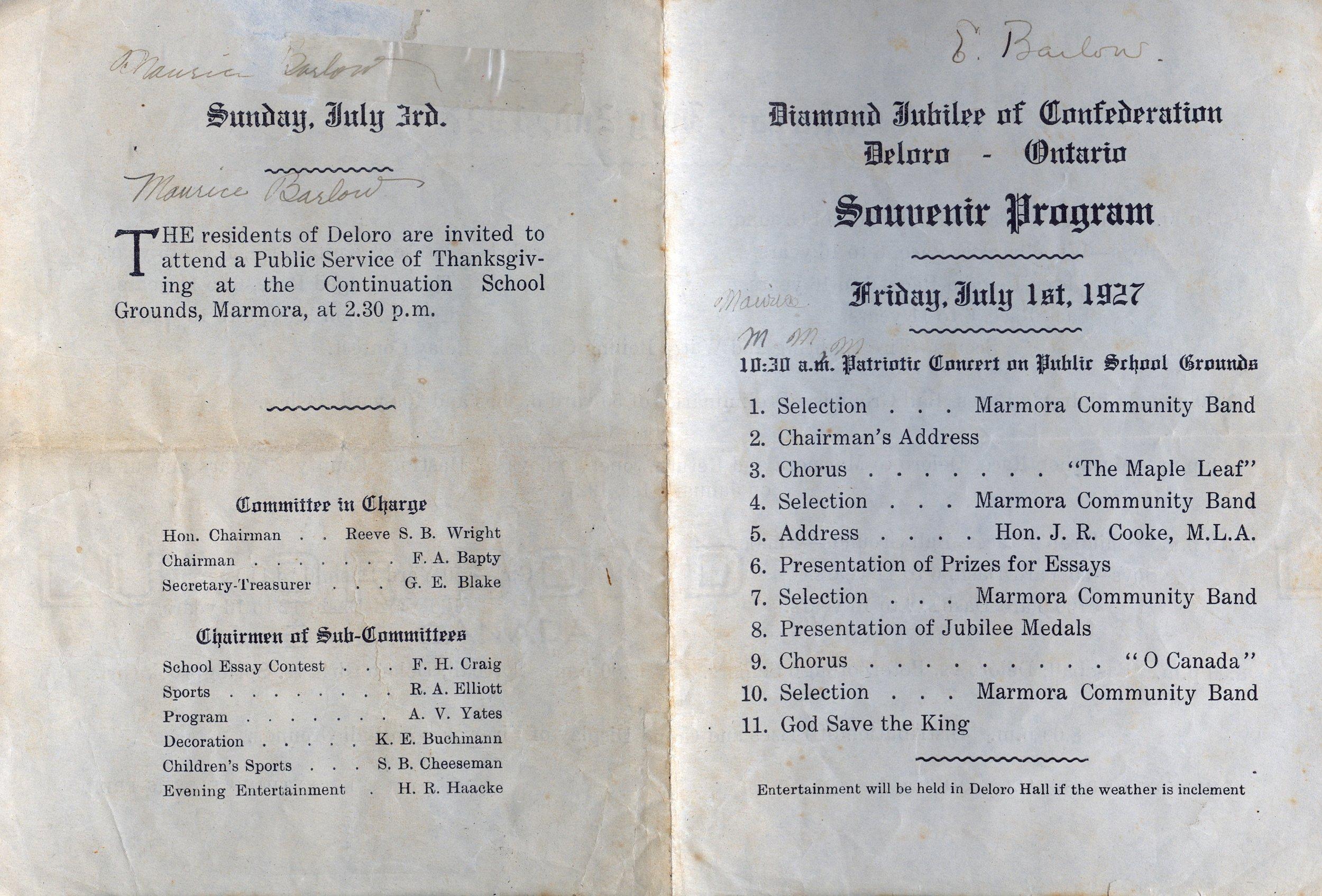 1927 Deloro Hall Diamond Jubilee.jpg