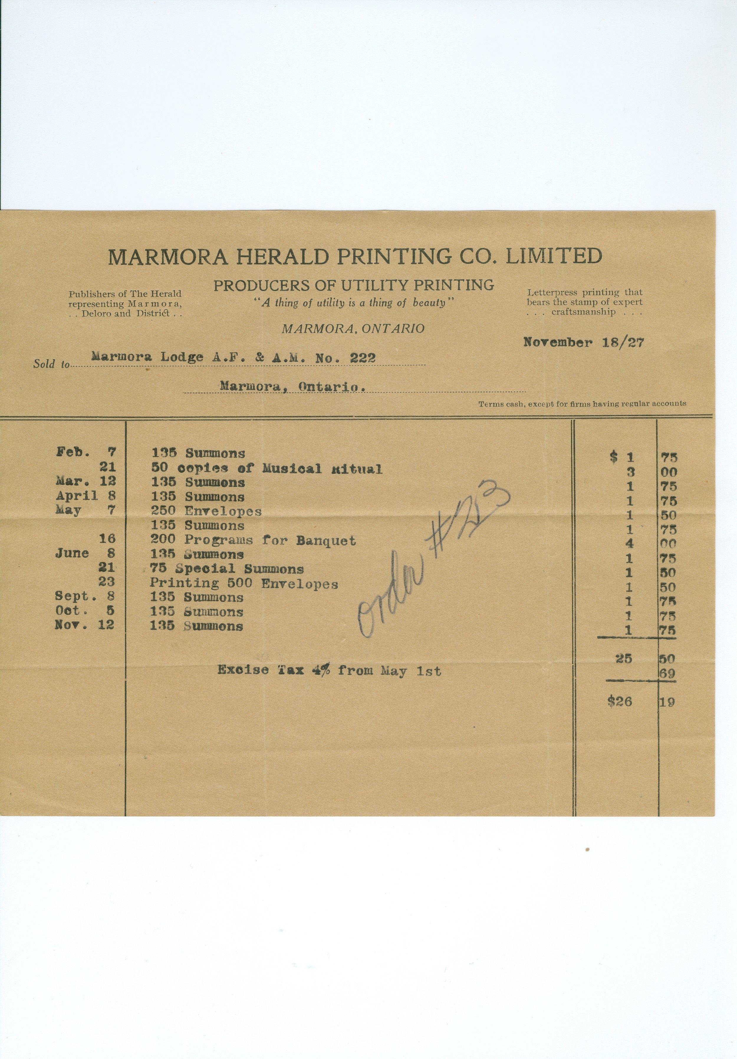 Marmora Herald Printing Co.