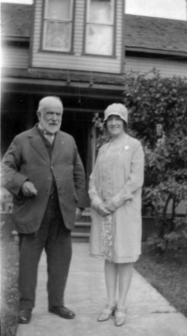 Marmora lumberman, Joseph Clairmont, later Mayor of Gravenhurst, with daughter, Grace