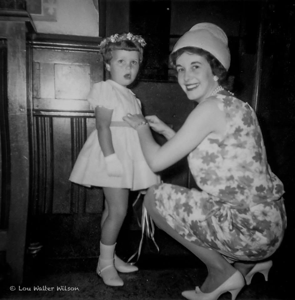 Wilma Bush with Cheryl 8.22.1964