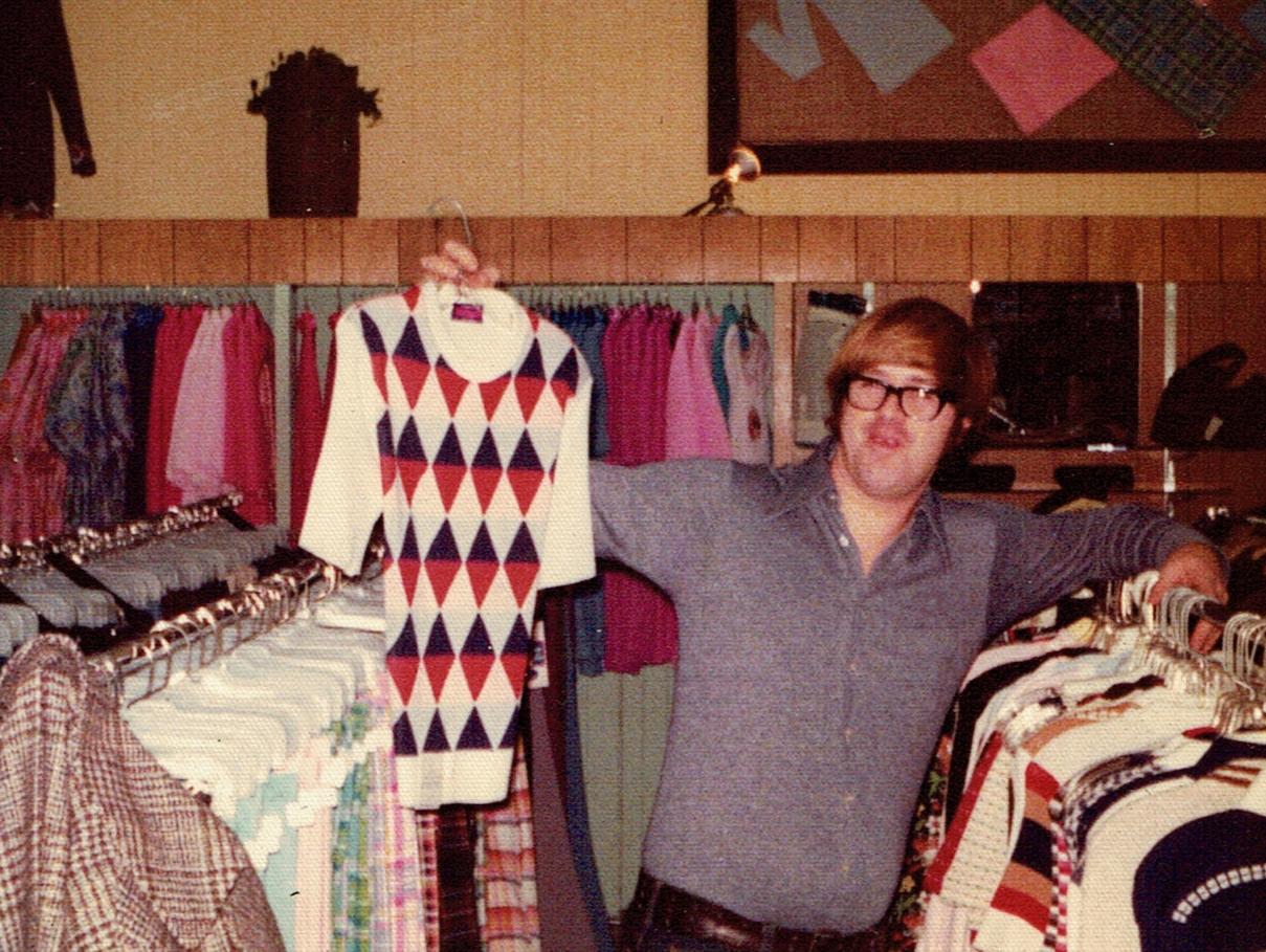 1972 Dec.  Bill Marett in Marett store.jpg