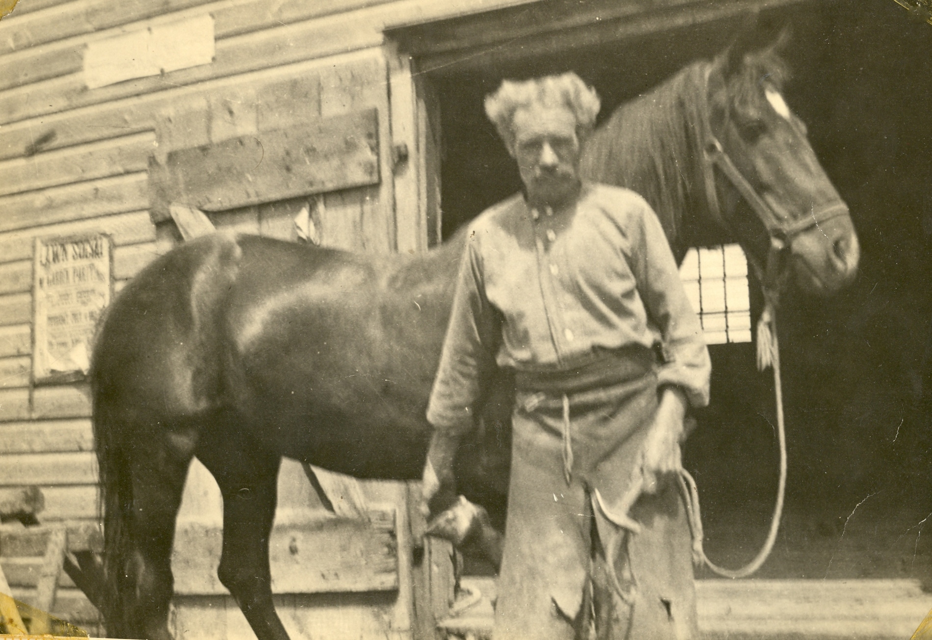 Blacksmith Great Grandfather Jesse Neal in Marmora