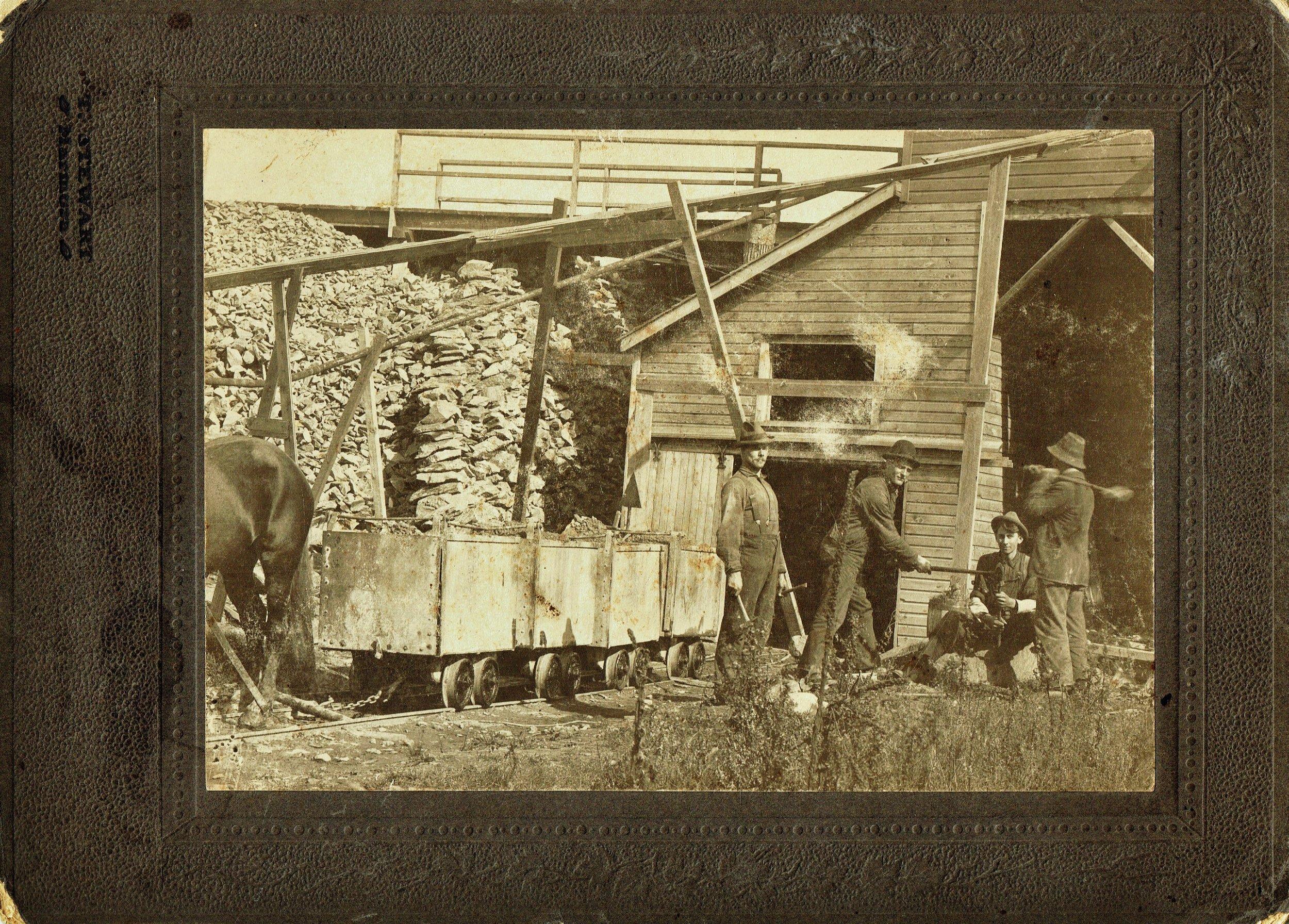Cordova Mines - George Barrons on left, Howard hamilton next Photographer - Thomas Stewart of Marmora