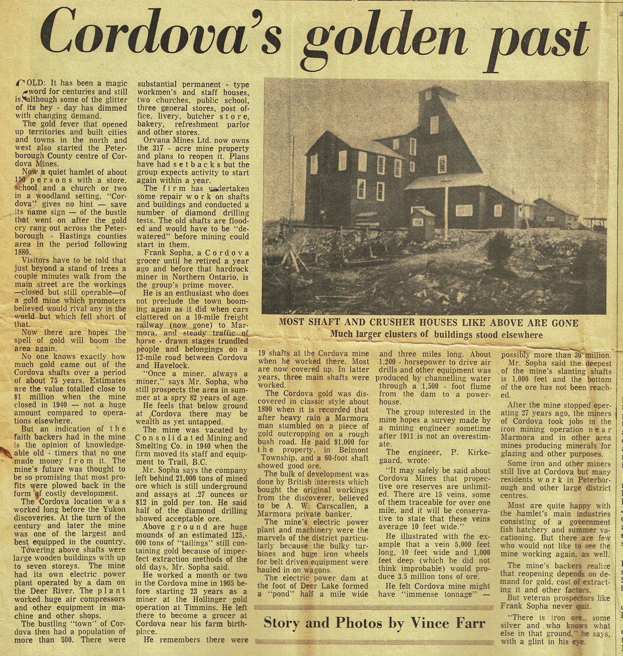 Cordova's Golden Past Pet Exam March 1967.jpg