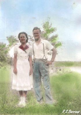 """Everett George (""""Barney"""") Barrons, Marion Gertrude Vincent married 1943"""
