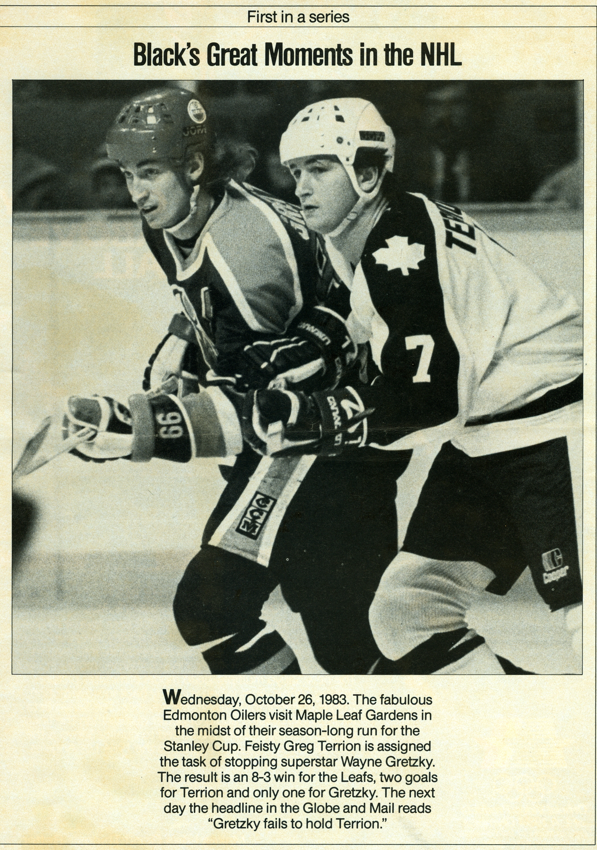 Greg Terrion-Wayne Gretzky 1983