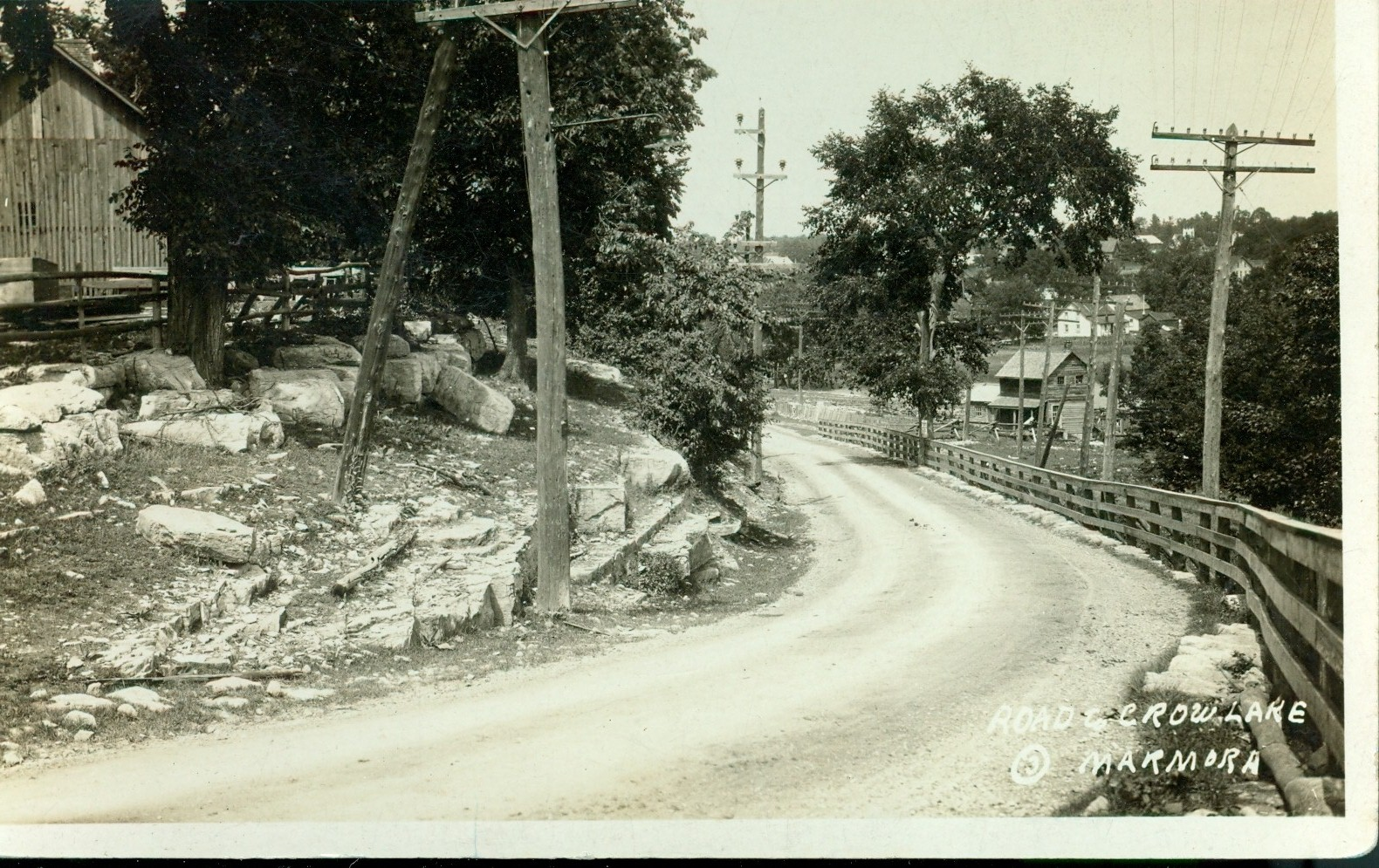 Road to Crowe Lake c. 1920.jpg