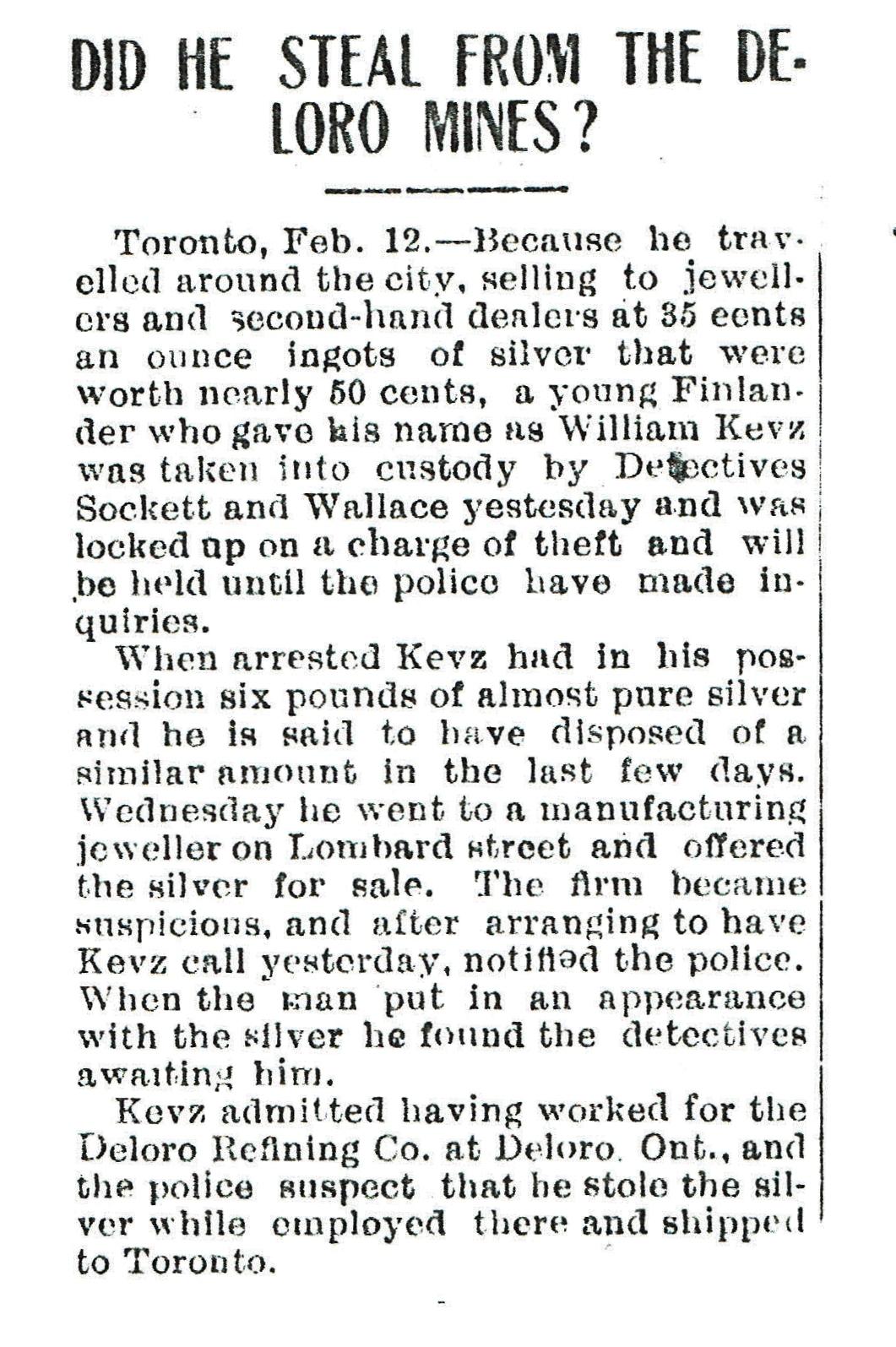 Kevz Deloro theft 1909.jpg