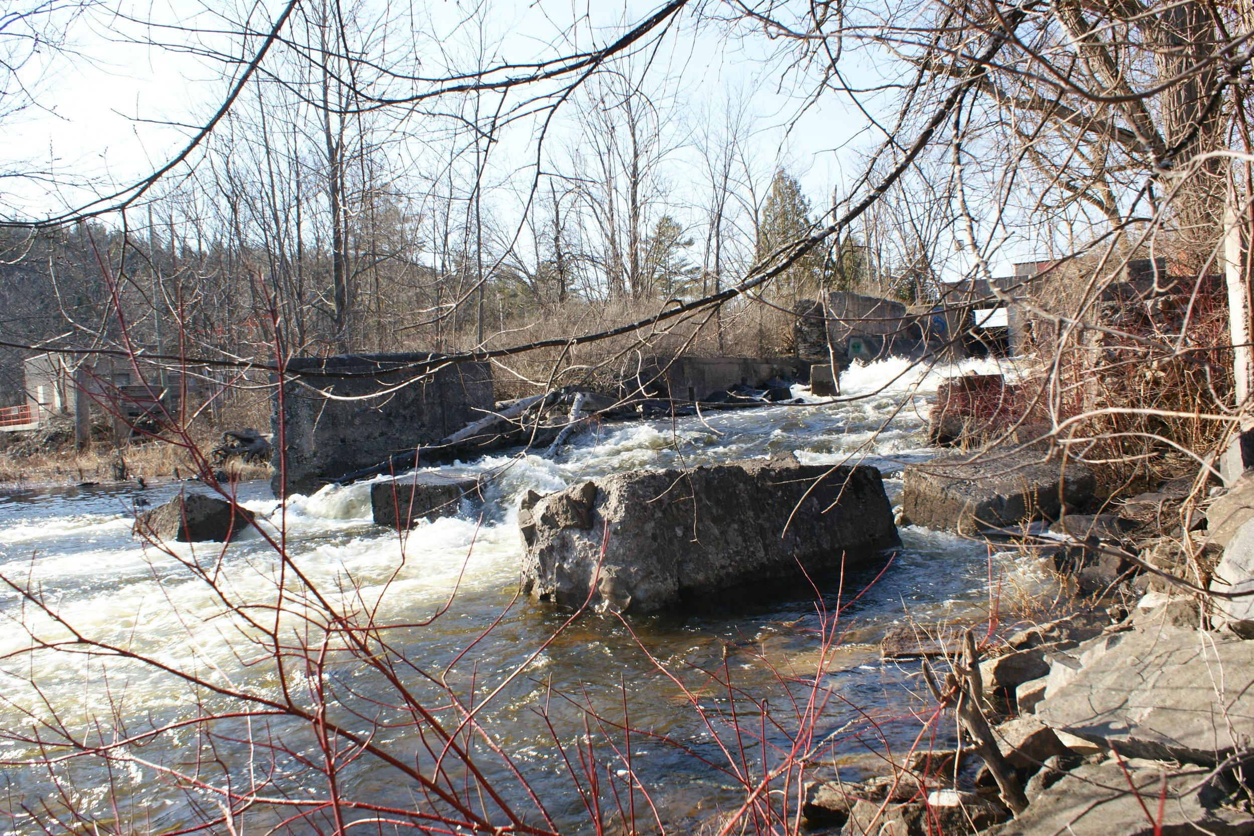 Water chute for sawmill