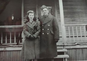 Dorothy Forestell with Leo O'Connor before he left for overseas service
