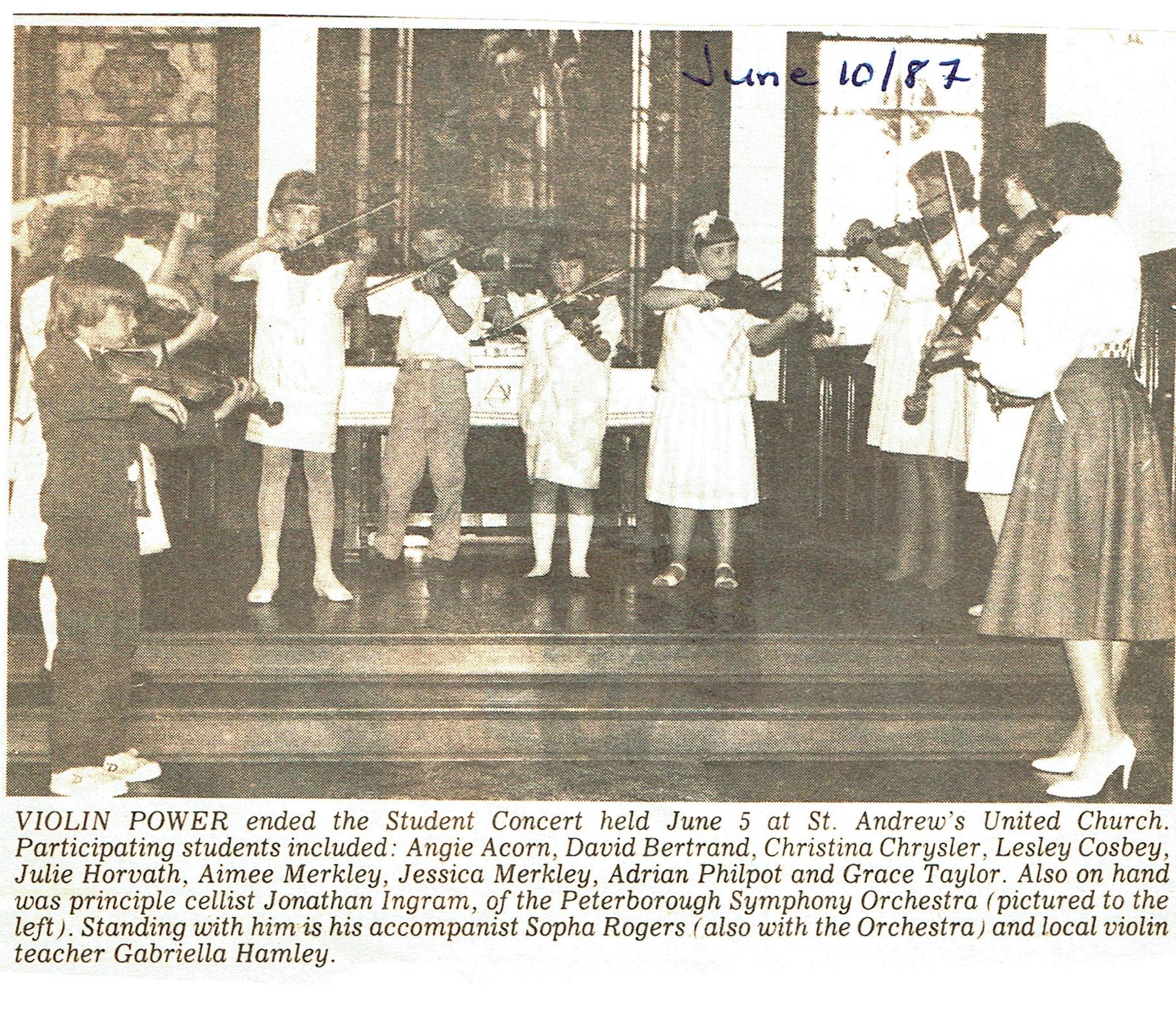 Violin concert with Gabriella Hamley 1987.jpg