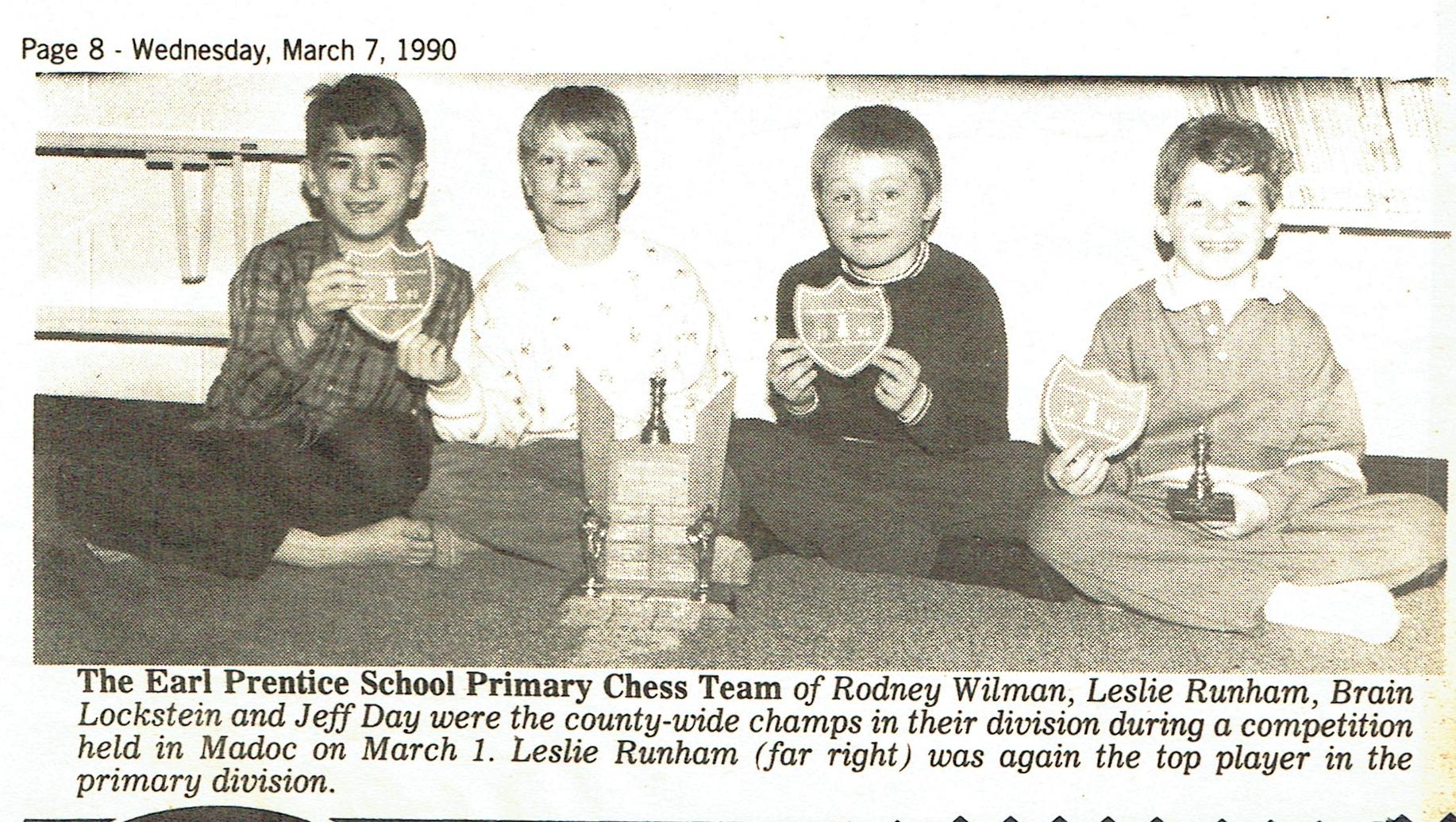 Earl Prenitce Chess Club, 1990
