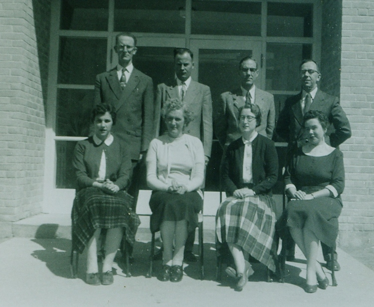 Leighton McGuinnes, Leonard Begley, Principal, Harry Jenkins, Jack Doran, Muriel Swayne, Helen Brady, Patricia Tockl, Anne Nickle