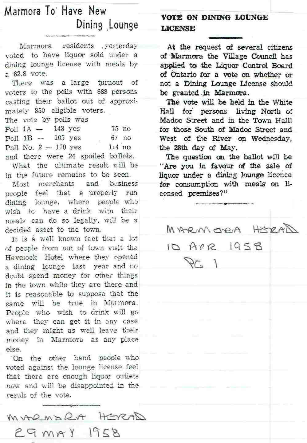 1958 Vote on licenced Dining lounge.JPG
