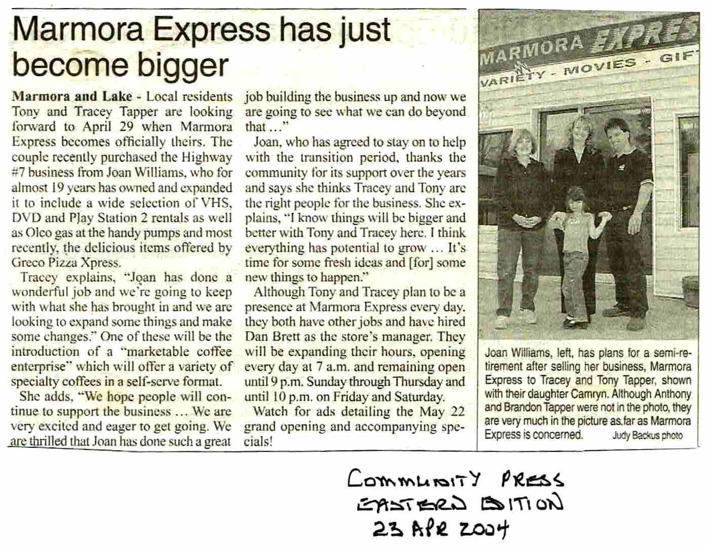 2004 Sunoco Marmora Express Tapper.JPG