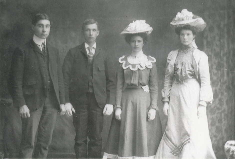 Mark McGarvey, George Albert Franklin, Ethel May Wilkes and Alice Maria Franklin.jpg