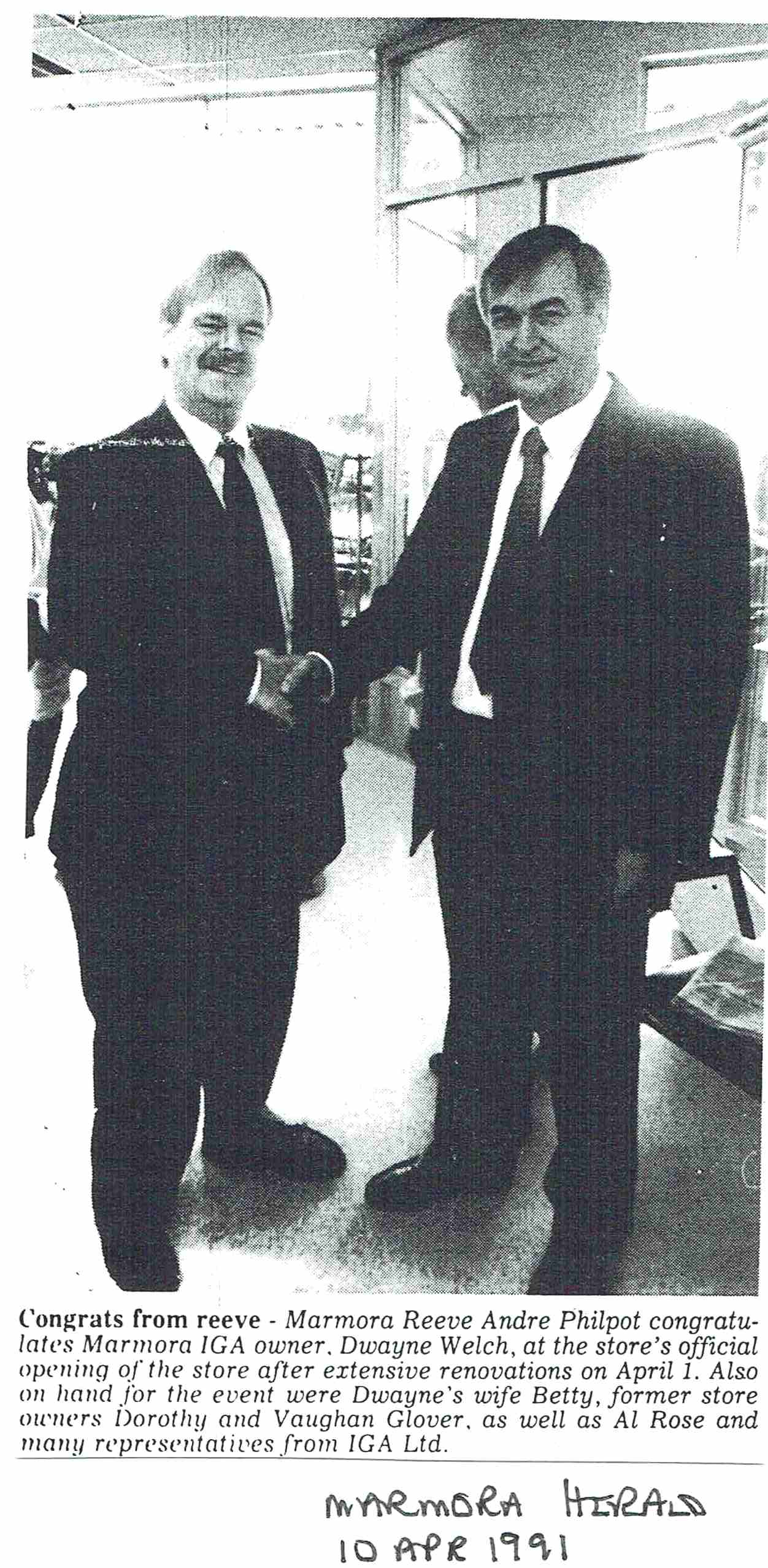 1991 IGA renovations .JPG