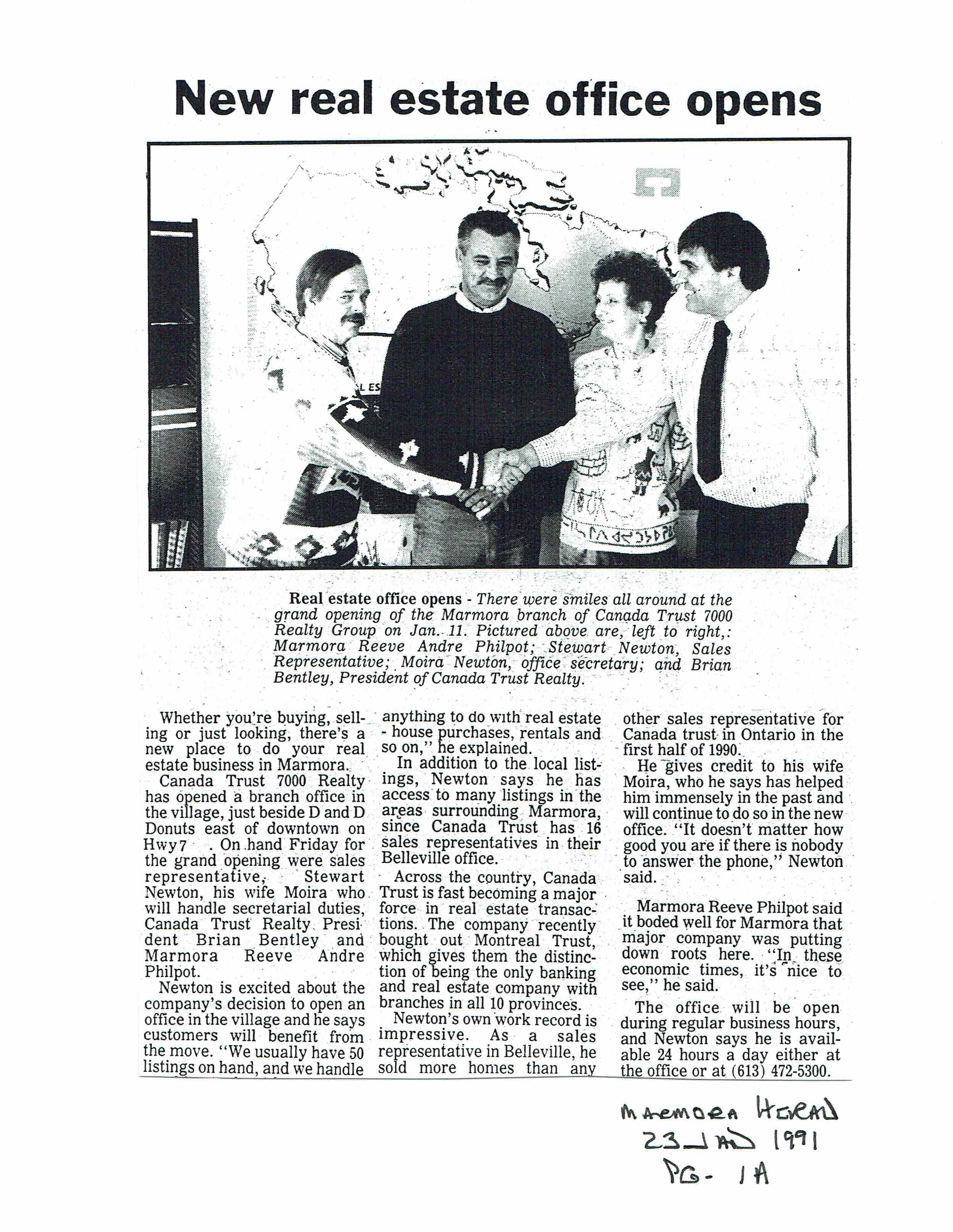 1991Stewart Newton Canada Trust 7000 real estate.JPG