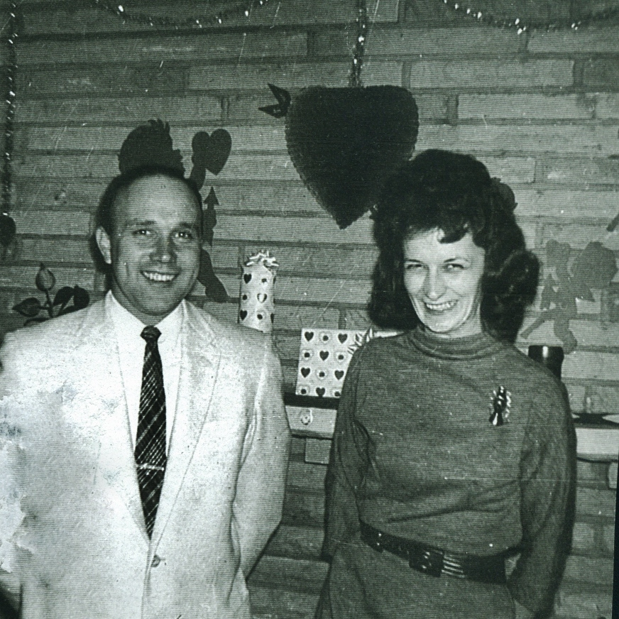 Bob Sweet, here with his wife, Barbara sweet, was hired by Bethlehem Steel as a mining superintendent in May, 1955, while his wife was hired in the accounting department.