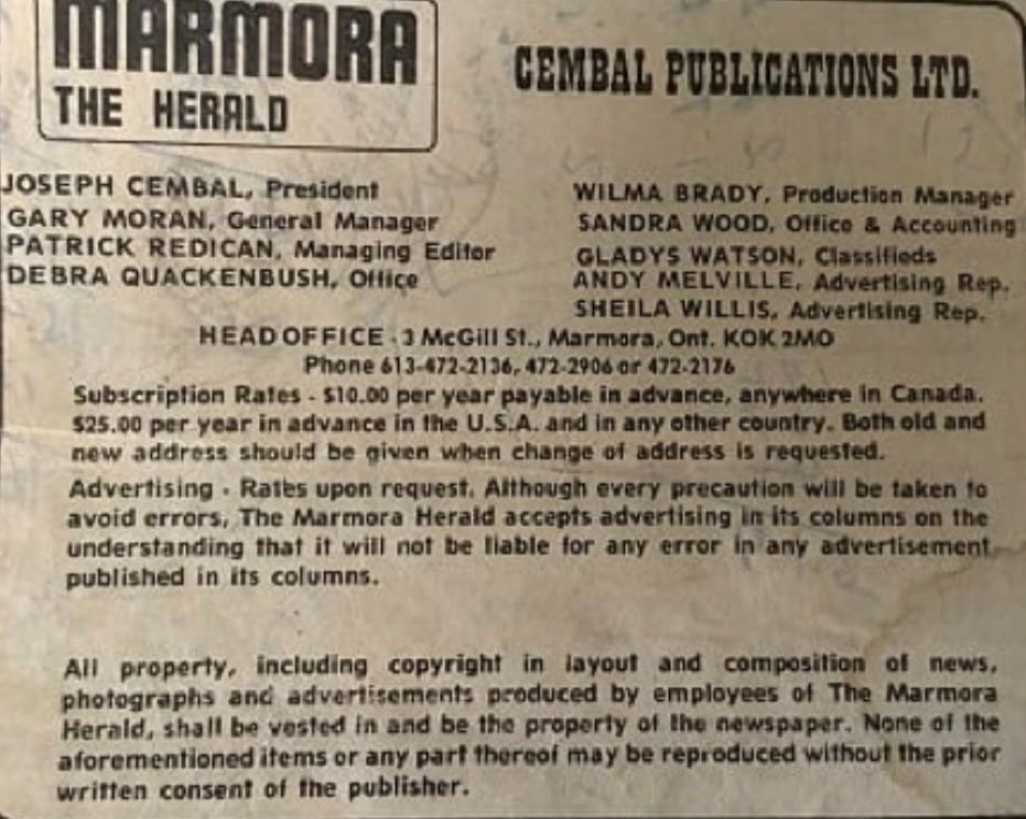 1980 Marmora Herald Staff.jpeg