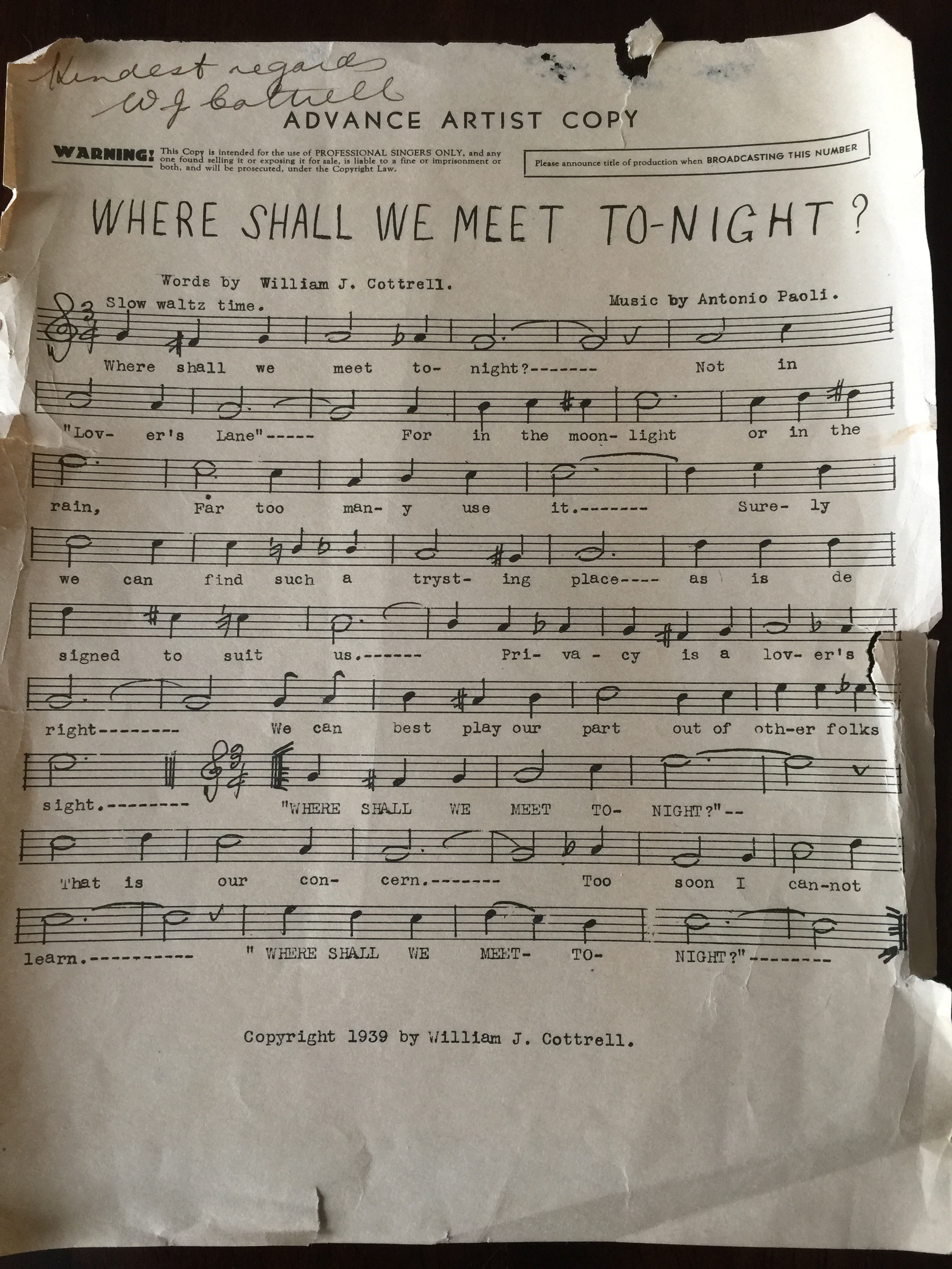 Wm Cottrell sheet music.JPG