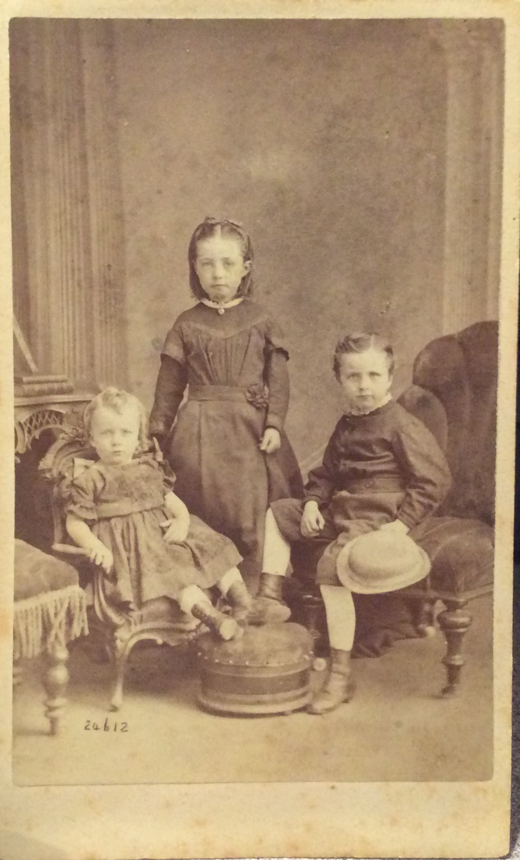 Thomas Dempsey 1861-1921, Mary Ellen Dempsey Shannon 1858-1940, and John Dempsey 1860-193