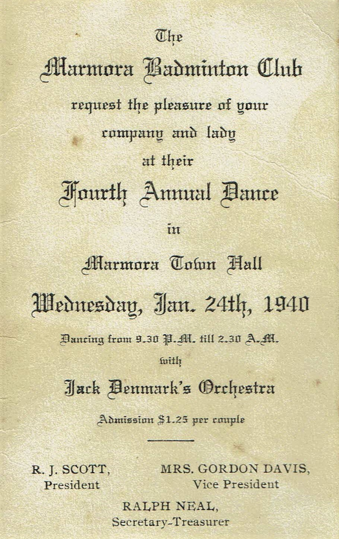 Badminton Club, Jack Denmark Orchestra 1940.jpg