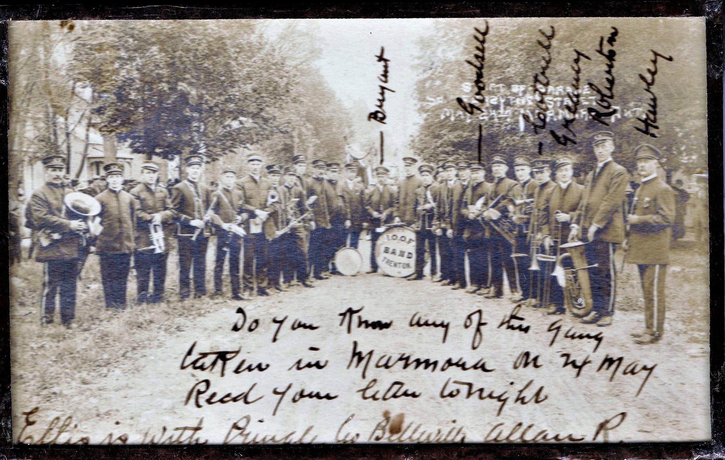 Start of parade, forsyth st., Marmora, may 24, 1910