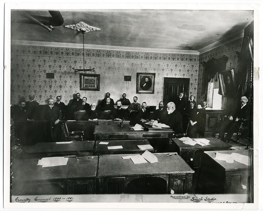 Council for the County of Hastings 1900-1901. J.W. Pearce of Marmora Village was the county Warden..jpg