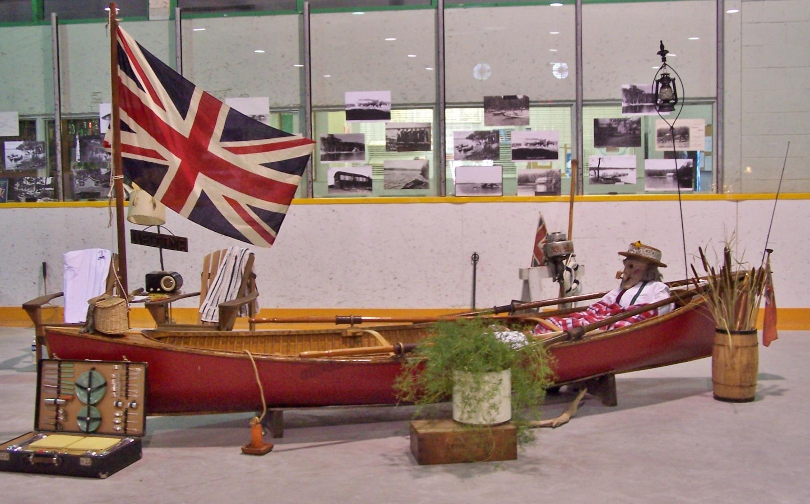 2005 Ebenezer in a canoe