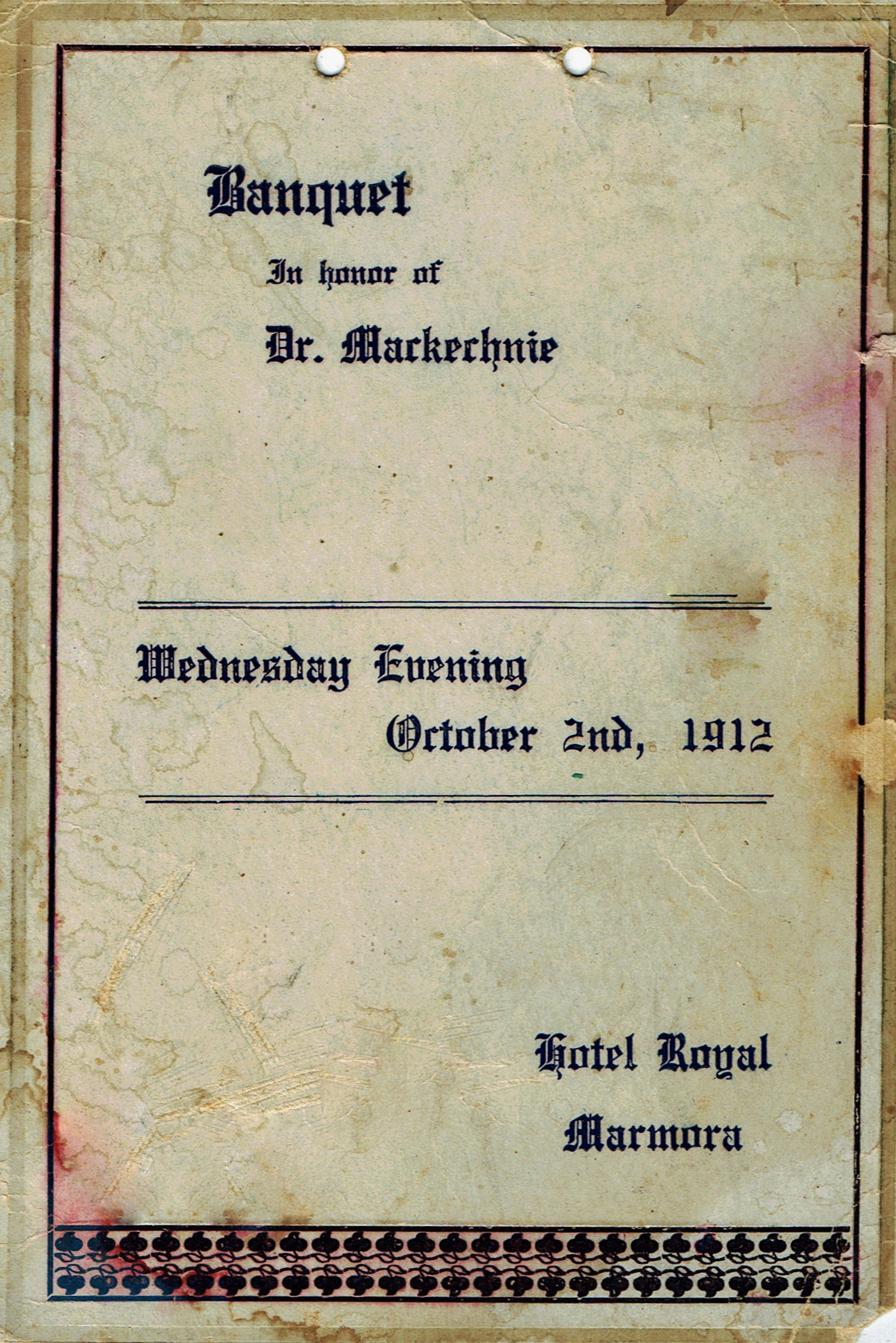 Dr MacKechnie Banquet 1912.jpg