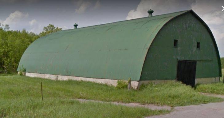 Storage barn to the west
