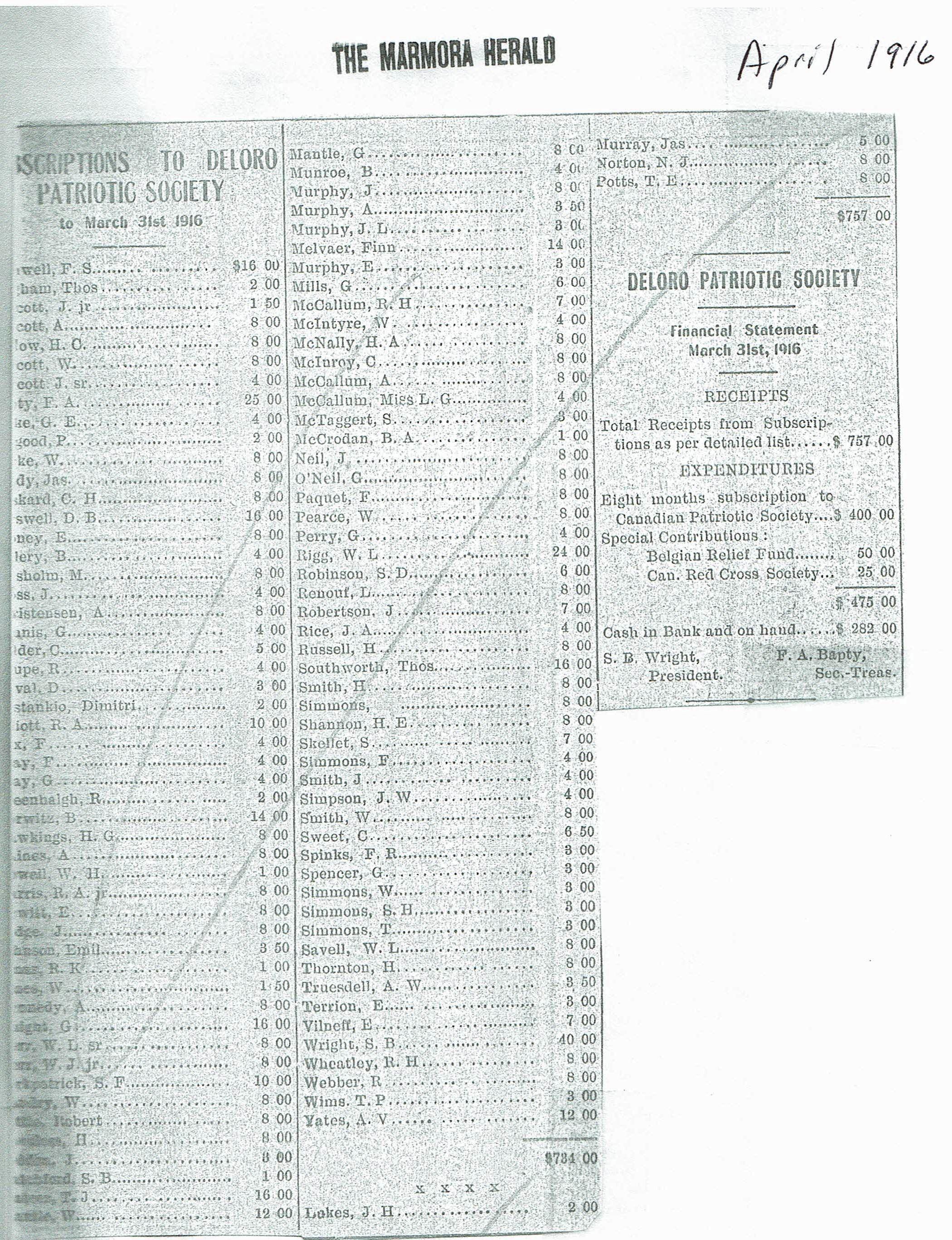 Deloro Patriotic Society 1916.jpg
