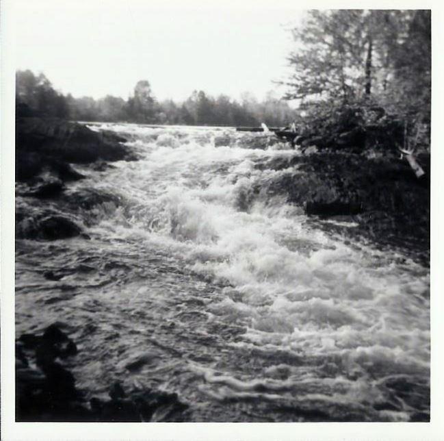Waterfall before bridge was built