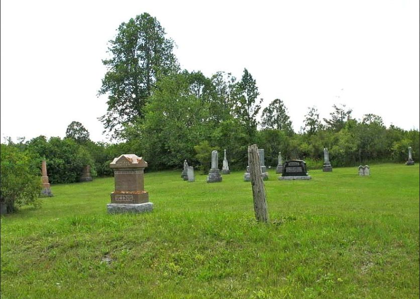 The small cemetery on the site of the old White Church was, for many years, a free burying ground. Many of the early monuments are now gone. In more recent years, the cemetery has been improved and it is still used occasionally.