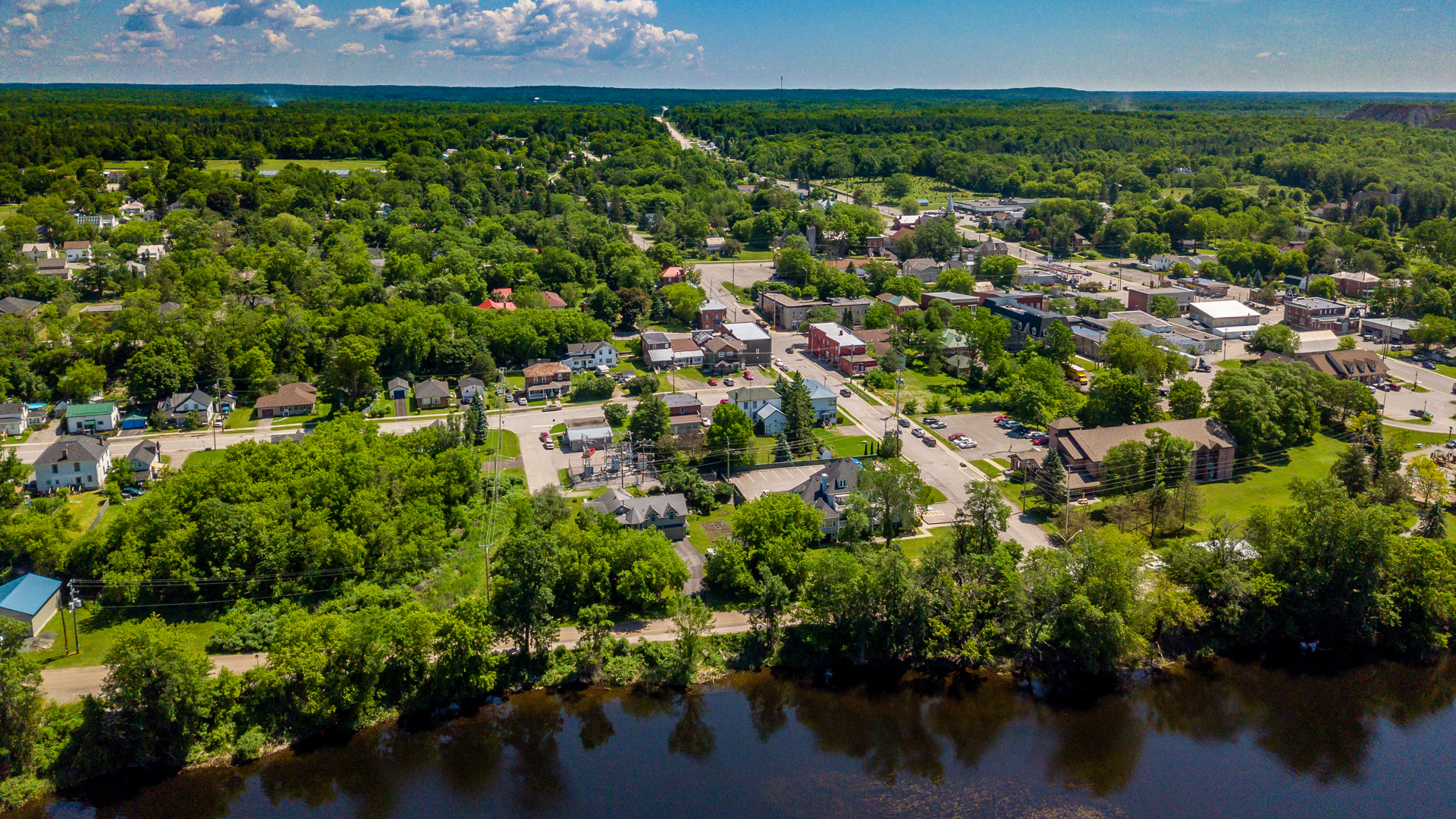 Marmora, east of the river. Pump house LOWER LEFT, Dr Parkin Living centre lower right. 2019 PHOTO BY SEAN.SCALLY
