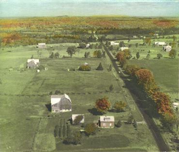 Here is a second view looking north showing in the background the farms of Robert Kennedy, Charlie Barrons on the left in Belmont Township, Peterborough County and Bob Wiggins, John McGregor and George McGregor on the right in Marmora Township, Hastings County on the right.