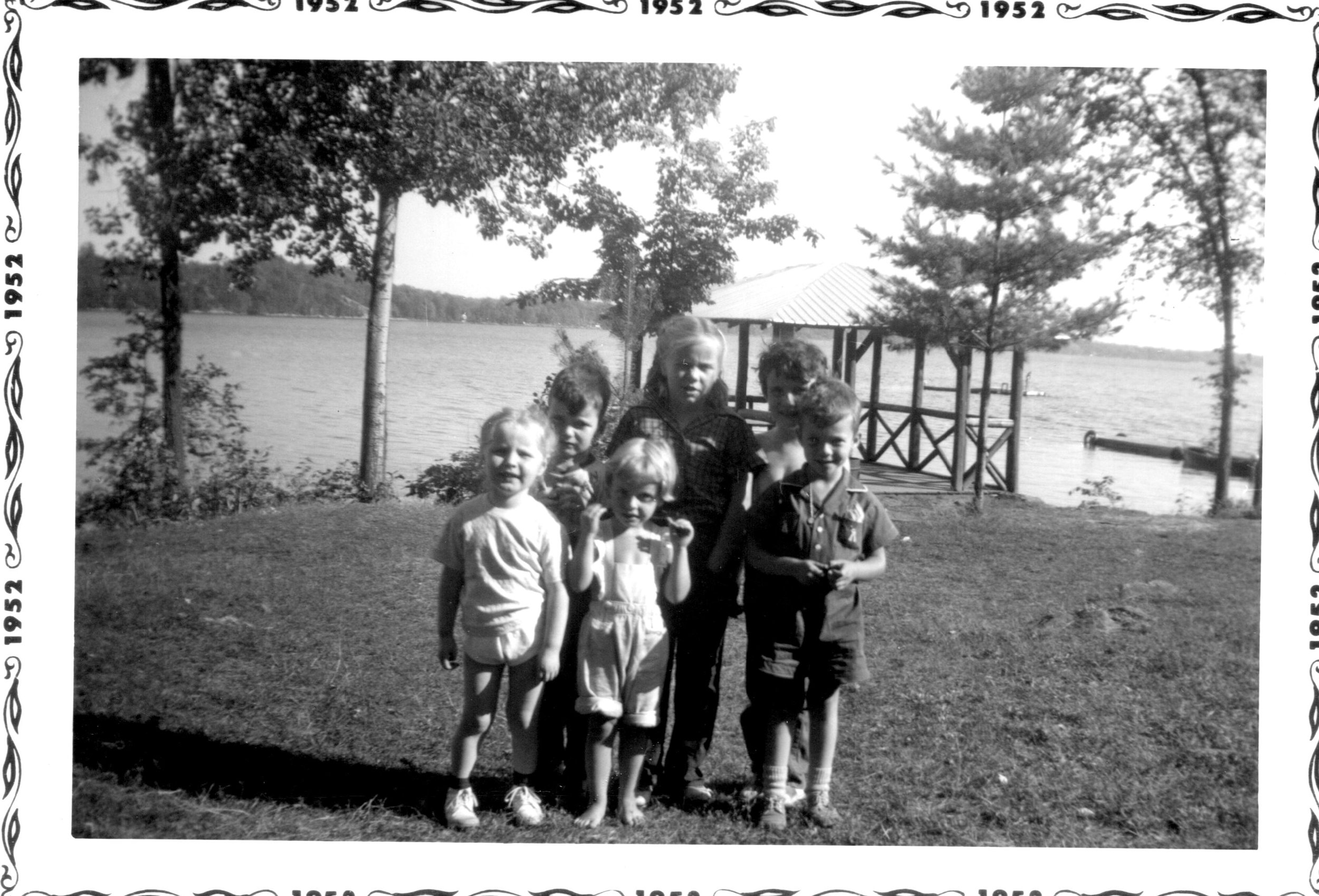Front row - My sister Anne,Ann Barlow (Weese) and Brian (Pete) McCrodan Back row - Me and I don't recognize the other two peopl  Dan Brady wrote: Often went to Glen Allan back in those days for my birthday.Family and friends would spend the day there and in the days before sunscreen would come home with egg sized sunburn blisters on my shoulders. Those were the days!