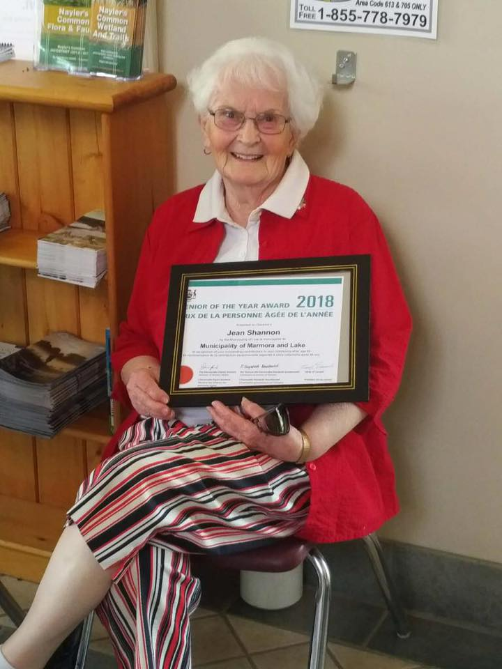 Jean Cook  Shannon, Senior of the Year