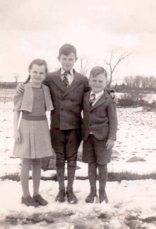 """""""Jean Marie Cook (Mrs. Shannon), John William Cook and Francis George Cook in Marmora Ontario Canada. Their oldest brother, Bernard, was killed in a car accident..jpg"""" """"Jean Cook Shannon 1.jpg"""" """"Jean Cook Shannon 2.jpg"""" """"Jean Cook Shannon.jpg"""""""