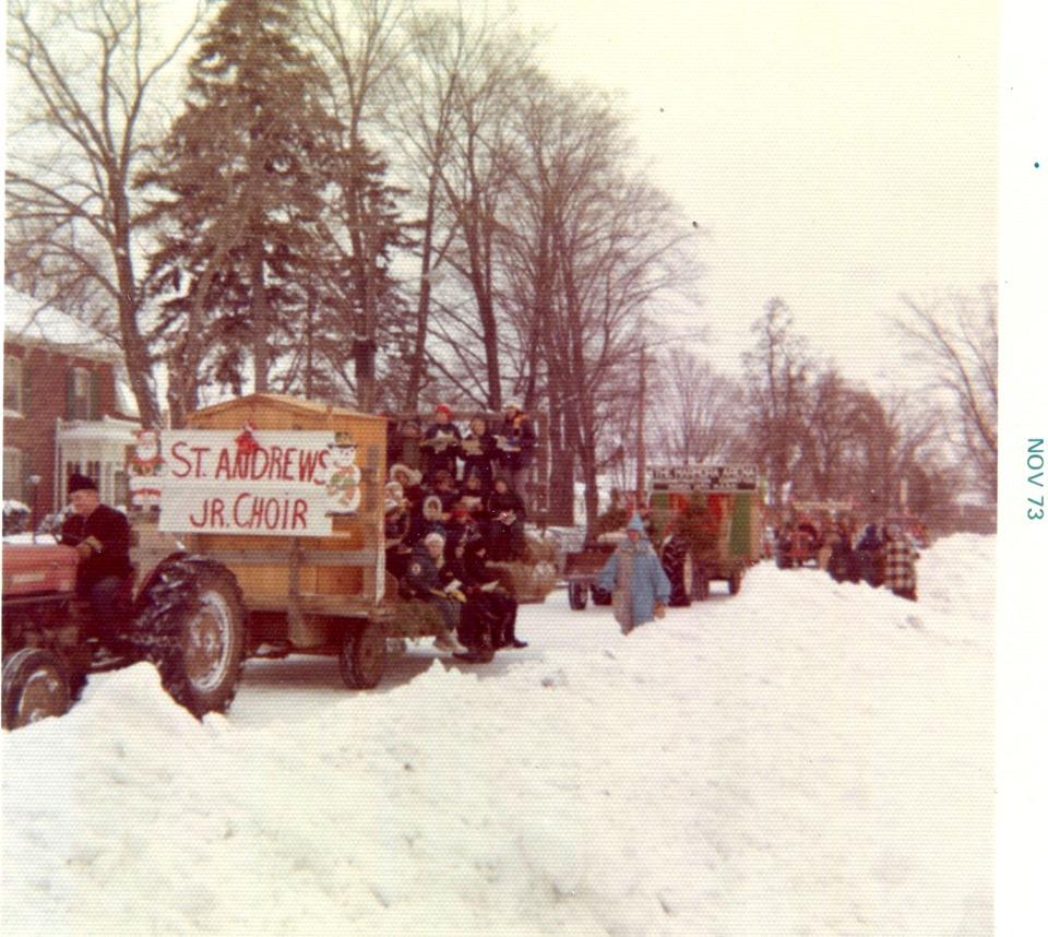 1973 with Kimberly Lajoie, Ann Hegadoren, Brenda Sanderson, Chris Kerr