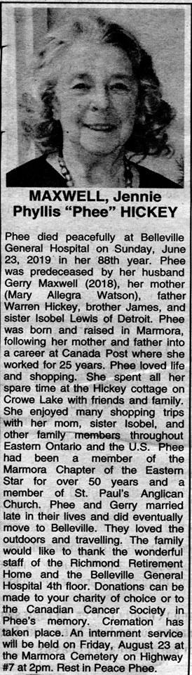 Hickey, Jennie Phyllis Phee Maxwell Obit.jpg