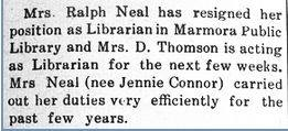 Librarian Jennie Whytock-Connor Neal 1934