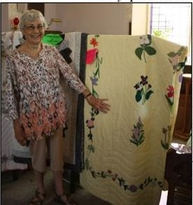 Ruth Miner and her beautiful quilt work featuring the Provincial Flowers
