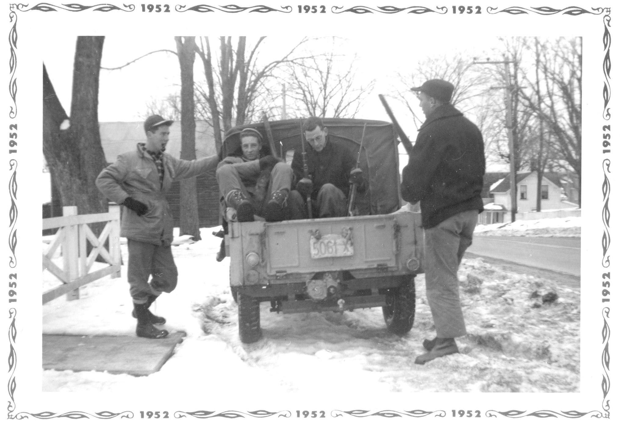 Deer hunting  1952 Ken Trumble (likely), Bert Gray,