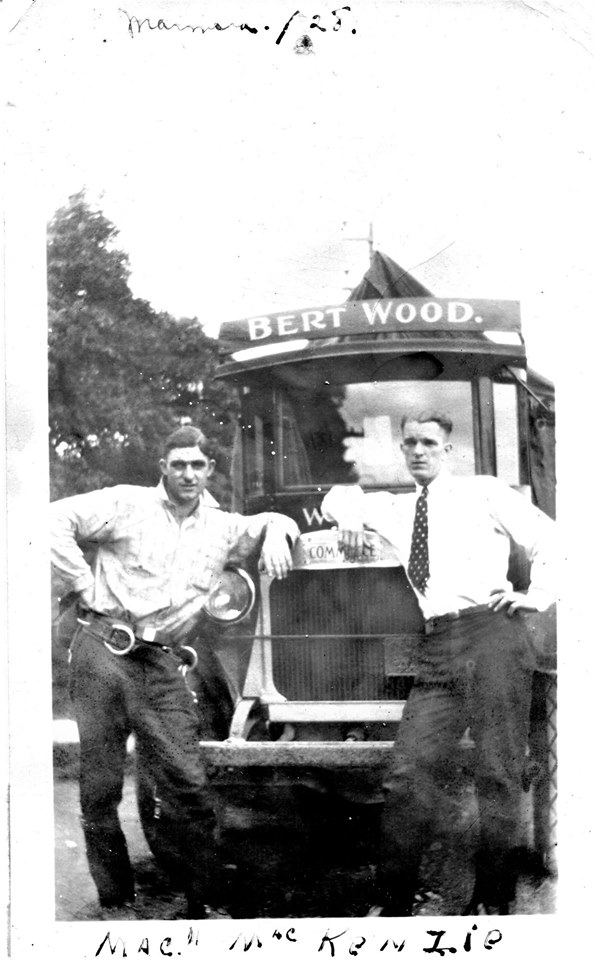 Mack MacKenzie 1928 Bert Wood truck.jpg