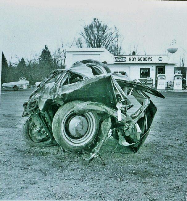 Car (volkswagon) accident involving Jane Goodchild.jpg